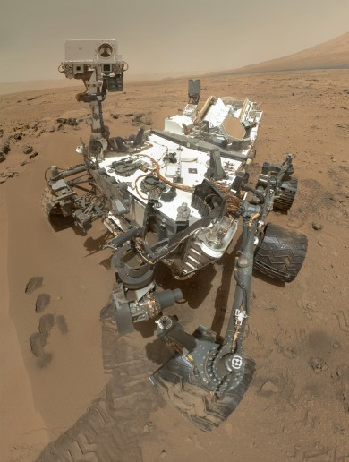 Cheese! Mars Curiosity rover sends back its first high-resolution self-portrait