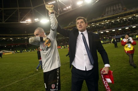 Devine and Doherty after the final whistle.