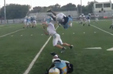 Great AT&T video of high school football player doing backflip over opponent is fake, sadly