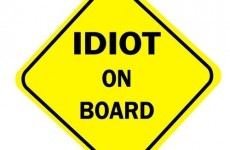 Woman who drove on pavement ordered to wear 'idiot' sign