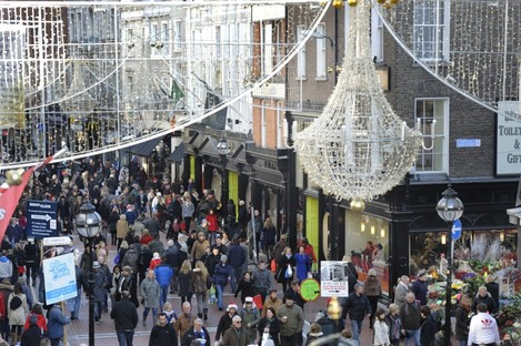 File photo of Grafton Street, Dublin, at Christmas last year.