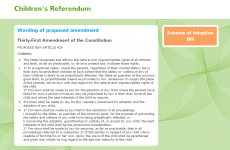 Children's Referendum website corrected after omitting part of amendment