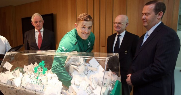 Caption time: what's new Ireland skipper Jamie Heaslip saying here then?