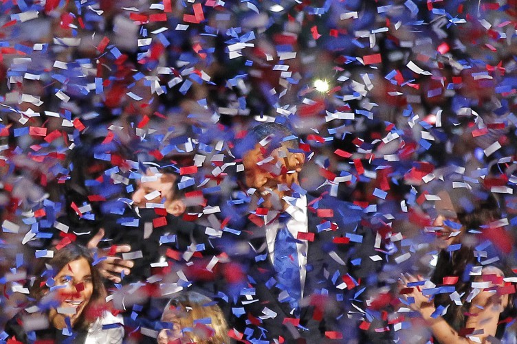 44 - The 44th President of the United States is in this photograph. Somewhere.