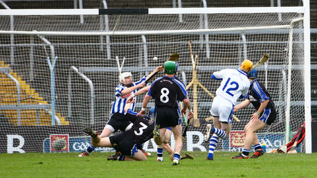 Lar Corbett scores the first goal for Thurles Sarsfields in today's game.