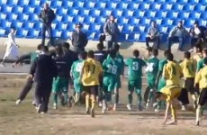 VIDEO: Players and fans attack a referee during a football game in Tajikistan