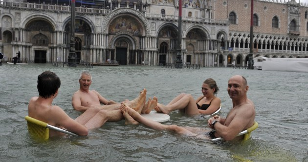 Pics: Venice may be flooded, but that's not stopping this lot