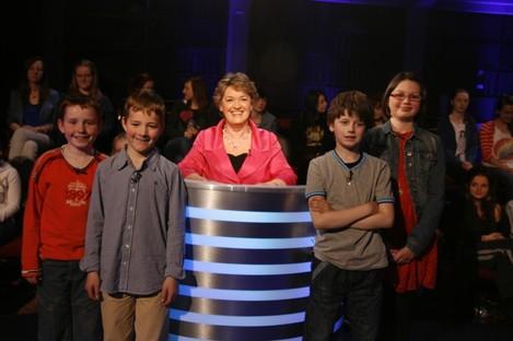 Presenter Nora Owen and last night's contestants