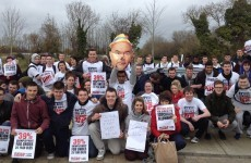 IT Tallaght students stage protest against cuts