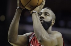 James Harden high-fived imaginary teammates after shooting a technical