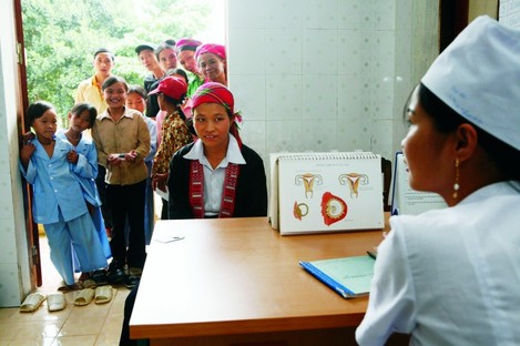 Vietnam has expanded reproductive health services, which include family planning, pre- and post-natal care and HIV prevention.