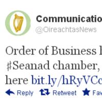 Um, does the Oireachtas really understand hashtags?