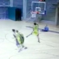 VIDEO: Basketball player misses 4 easy shots, saved from embarrassment by his own incompetence