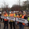 Students in pre-budget protest against fee increases and grant cuts