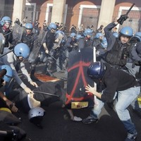 Clashes erupt in Europe anti-austerity protests