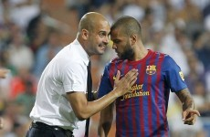 Alves blames squad for Guardiola exit