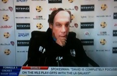 Why was Roberto Mancini wearing a David Platt mask at training this morning?