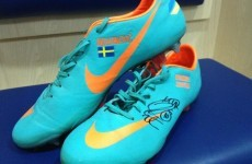 King Zlatan of Ibrahimovic donates England boots to team-mate for charity auction