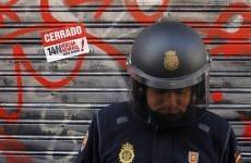 Video: Spanish police brutality at austerity strikes