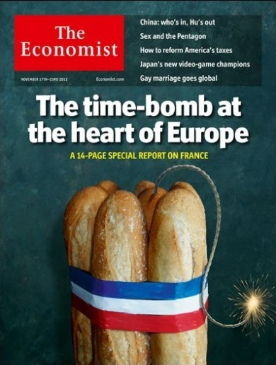 France is furious about new cover of The Economist