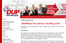 DUP websites hacked by Irish language prankster