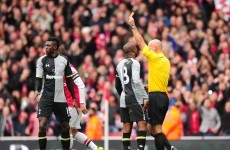 'Devastated' Adebayor says sorry for derby red