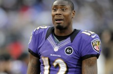 Baltimore Ravens wide receiver Jacoby Jones flirts with reporter on live TV