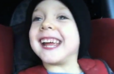 VIDEO: Child shouts 'We're trucking'... doesn't get it quite right
