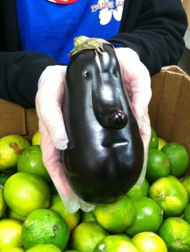 Does this aubergine look like anyone you know?