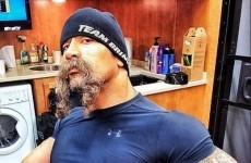 You can all shave now... The Rock wins Movember