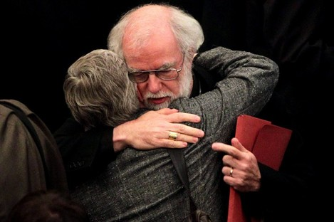 Dr Rowan Williams, the outgoing Archbishop of Canterbury, after draft legislation introducing the first women bishops in the Church of England failed to receive final approval from the Church of England General Synod