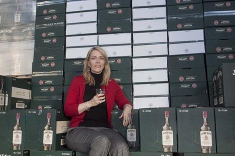 Irish Distillers Pernod Ricard CEO Anna Malmhake at the Jameson bottling plant at Fox and Geese, Dublin