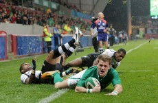 Gilroy earns Ireland chance against Pumas
