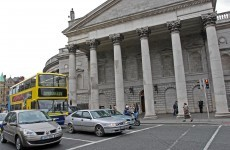 Armed robbery at Bank of Ireland on College Green