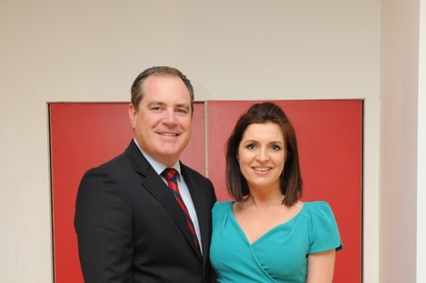 Alan Cantwell and Colette Fitzpatrick at the launch of the 2012 TV3 Autumn schedule