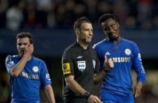 Referee chief calls for Chelsea apology