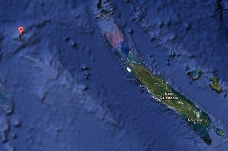 'A' marks the spot where Sandy Island lies on Google Maps.