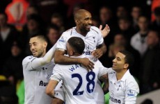 Moving on up: Defoe double helps Spurs leap Hammers