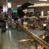 VIDEO: Shopper takes 20ft leap into fountain (and enjoys it)