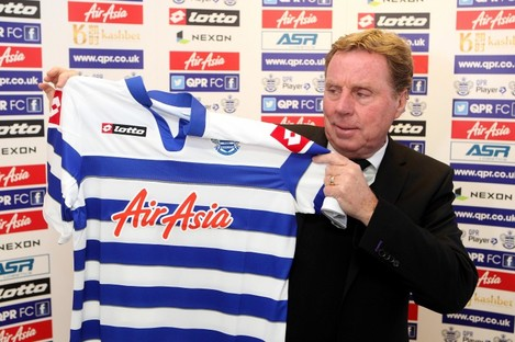New QPR manager Harry Redknapp.