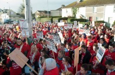 Protest: Almost 1,000 Tralee students march to TD's office