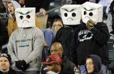 Eagles fans hide as Cam's Panthers shoot them down