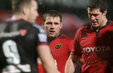 Pro12: Scarlets lock cited for tackle that left Munster forward Ronan hospitalised