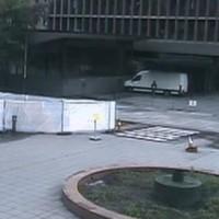 CCTV footage shows Anders Breivik parking van at explosion scene