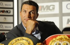 Chicken salad floors world champion Wladimir Klitschko