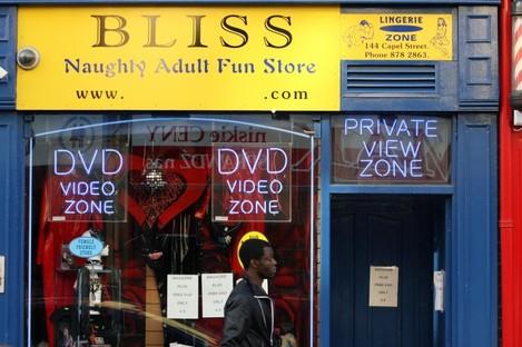 Adult store on Capel Street, Dublin.