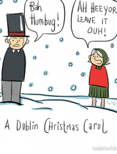 9 gas alternative Irish Christmas cards