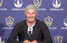VIDEO: Phone call interrupts Beckham press conferece, he refuses to answer rival brand