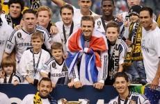 VIDEO: Beckham leaves LA Galaxy on a winning note