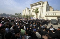 Islamist protesters force Egypt court to halt session